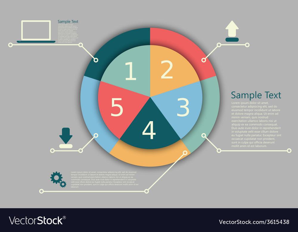 Pie Chart Royalty Free Vector Image Vectorstock