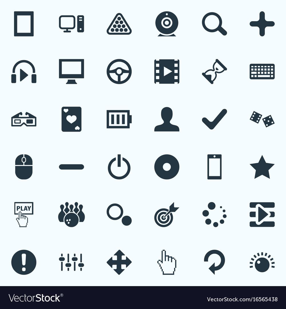 Set of simple play icons