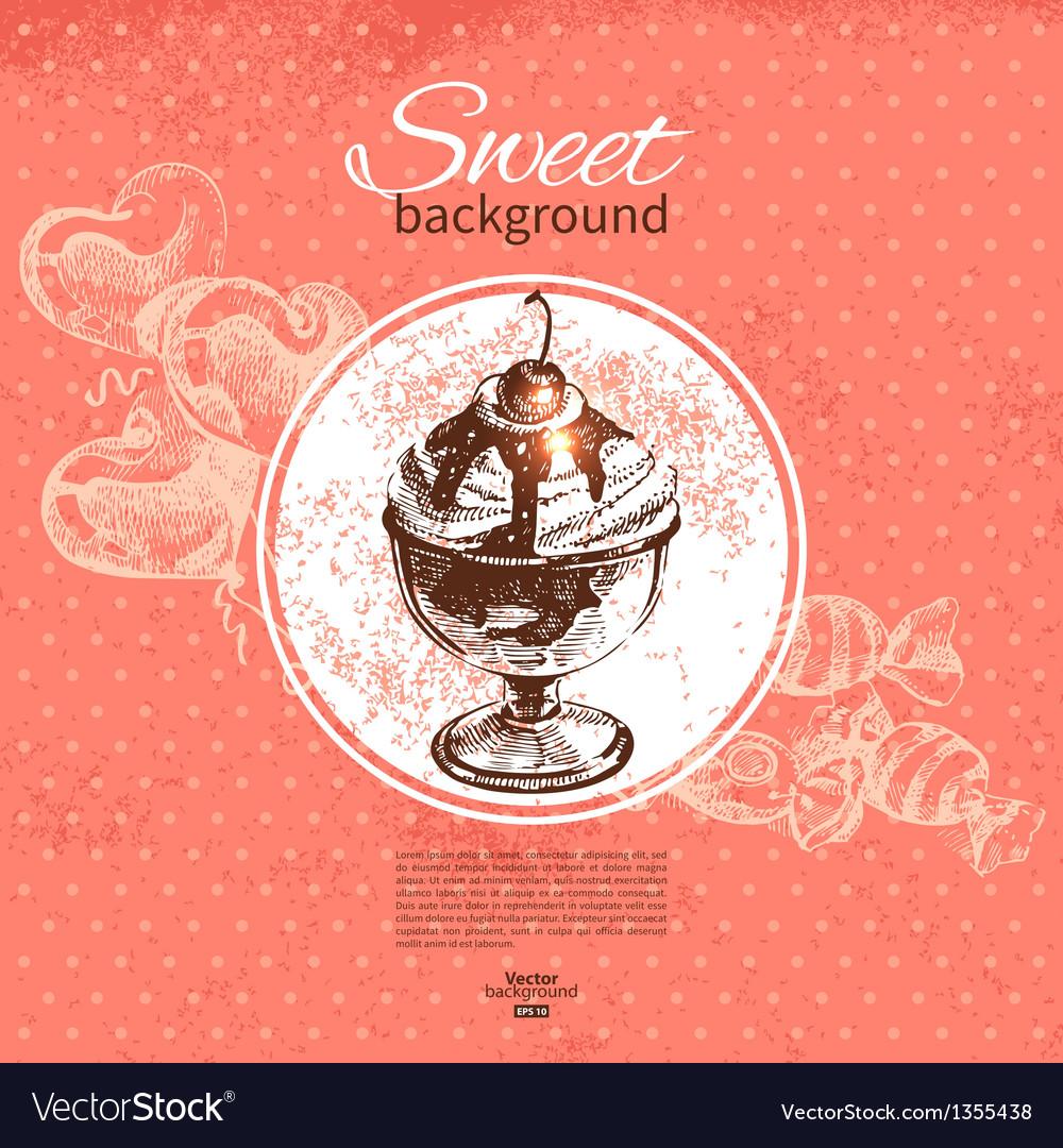 Vintage sweet background