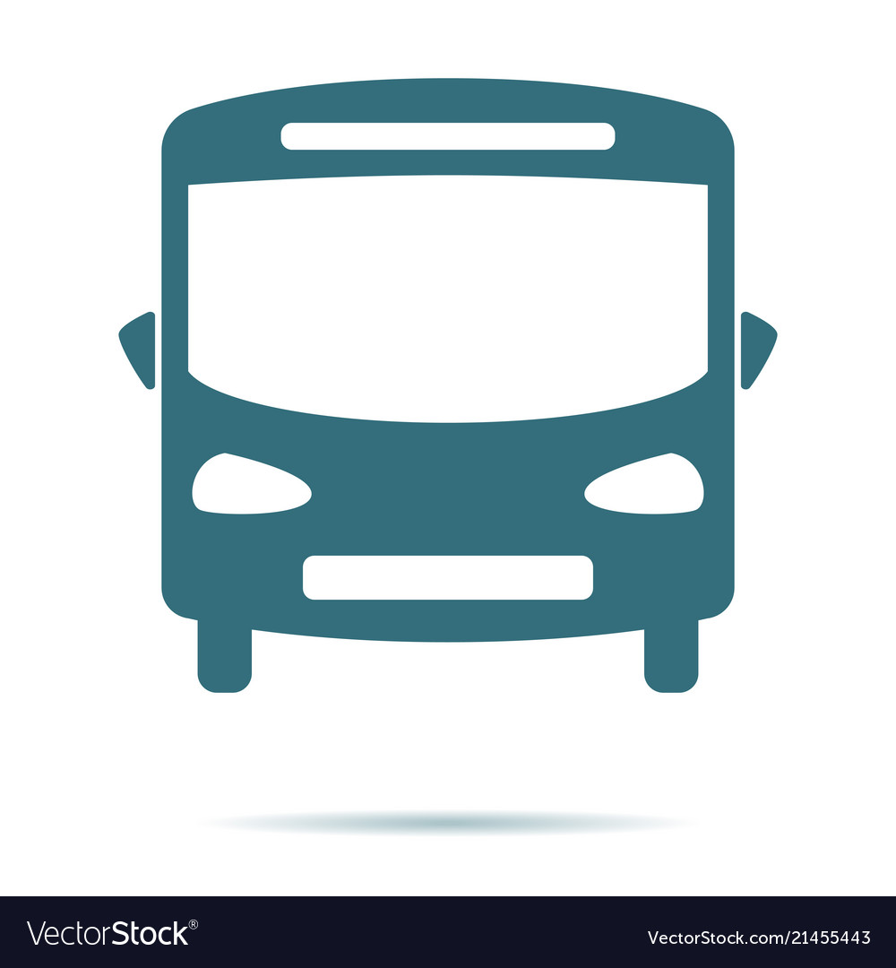 Blue bus icon isolated on background modern flat