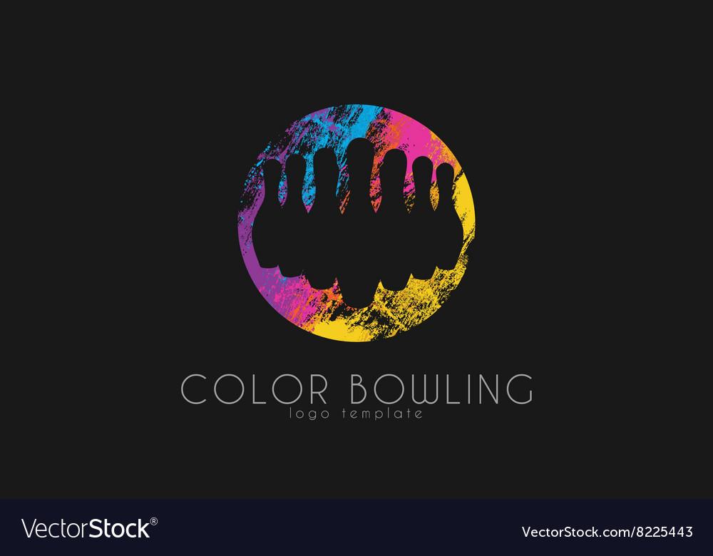 Bowling game logo Color bowling Sport logo
