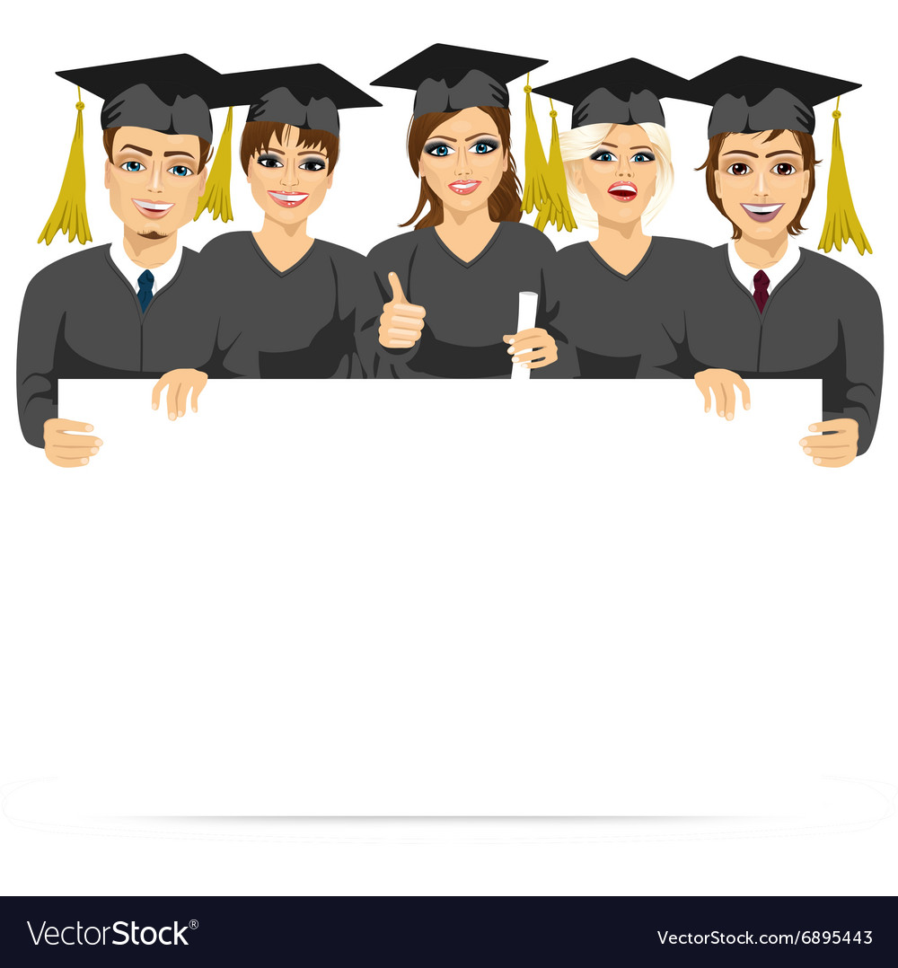 Will This Student Graduate White And >> Graduate Students Holding A White Board Royalty Free Vector