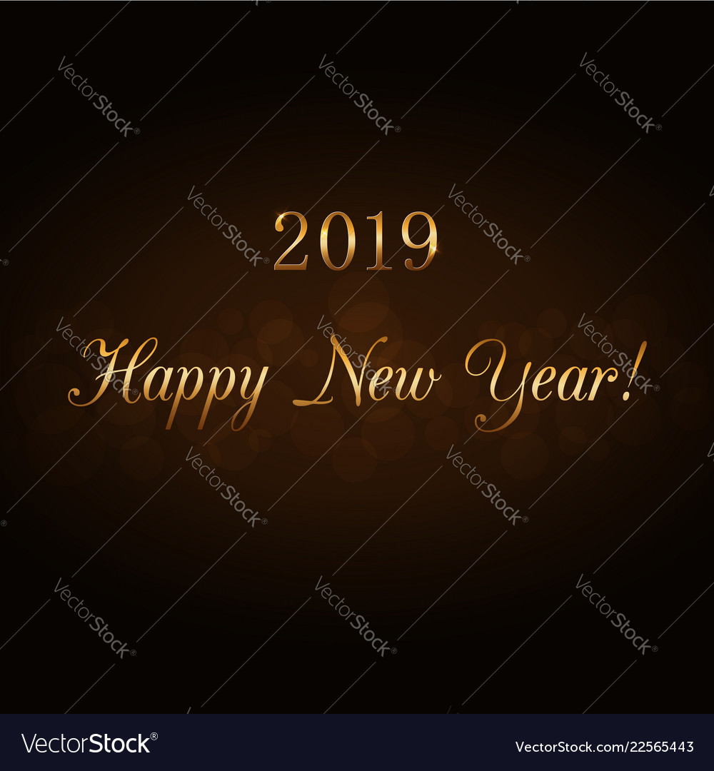Happy new year gold text in frame holiday