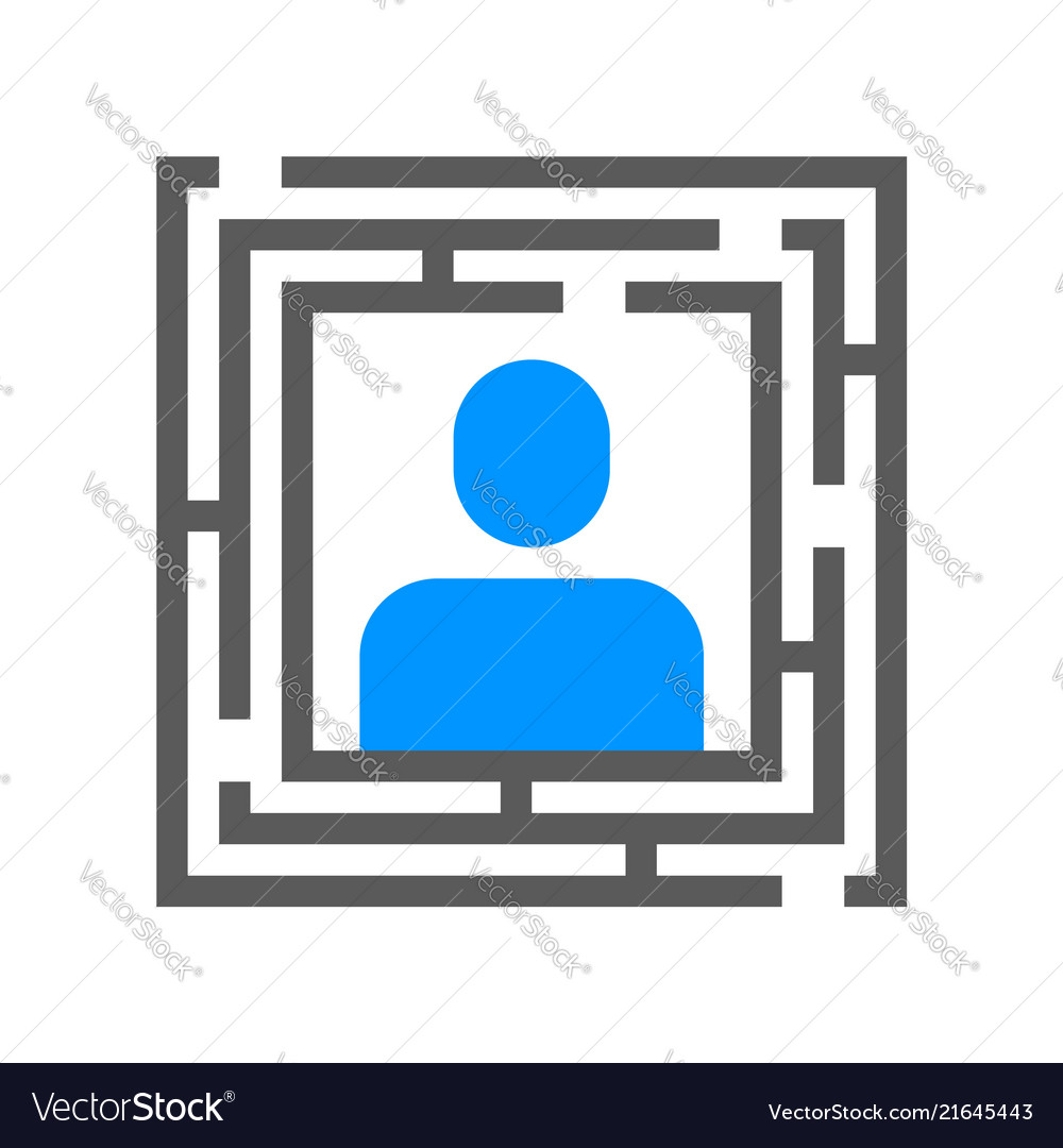 Human resource line icon management strategy