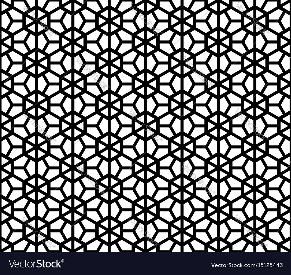 Seamless japanese black background and pattern