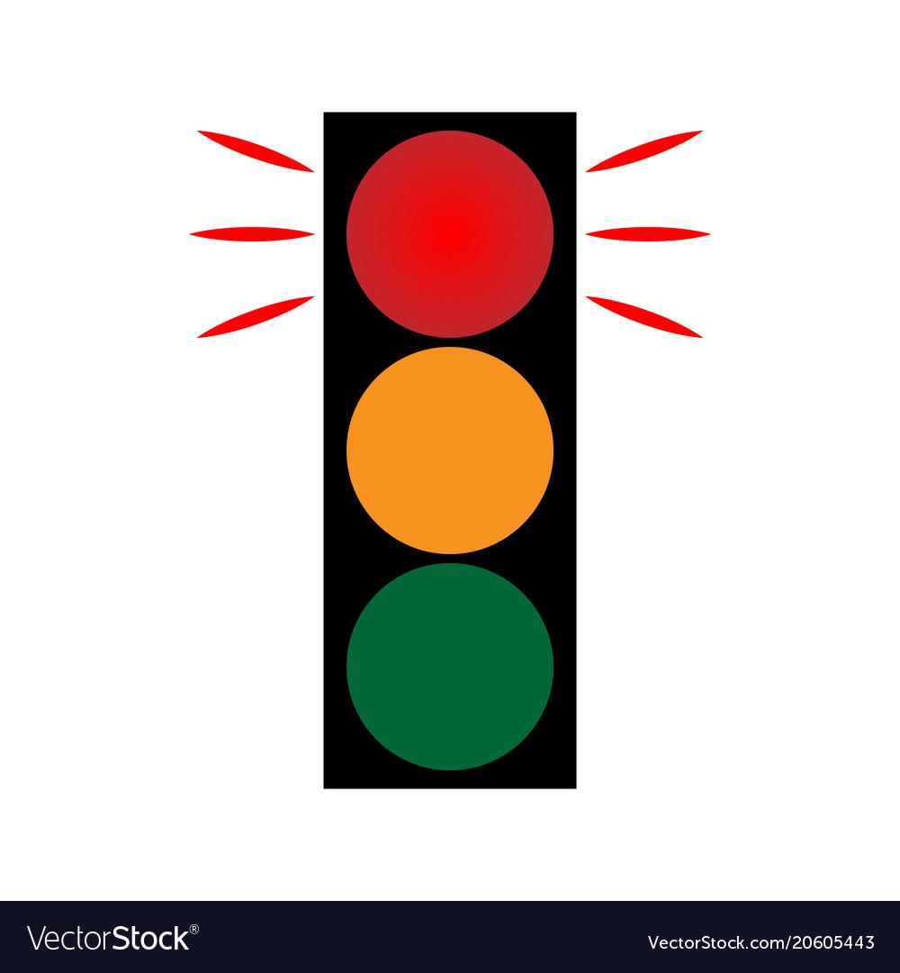 Traffic light red 1402 vector image