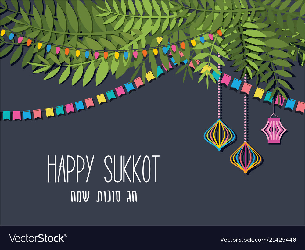 A of a traditional sukkah for