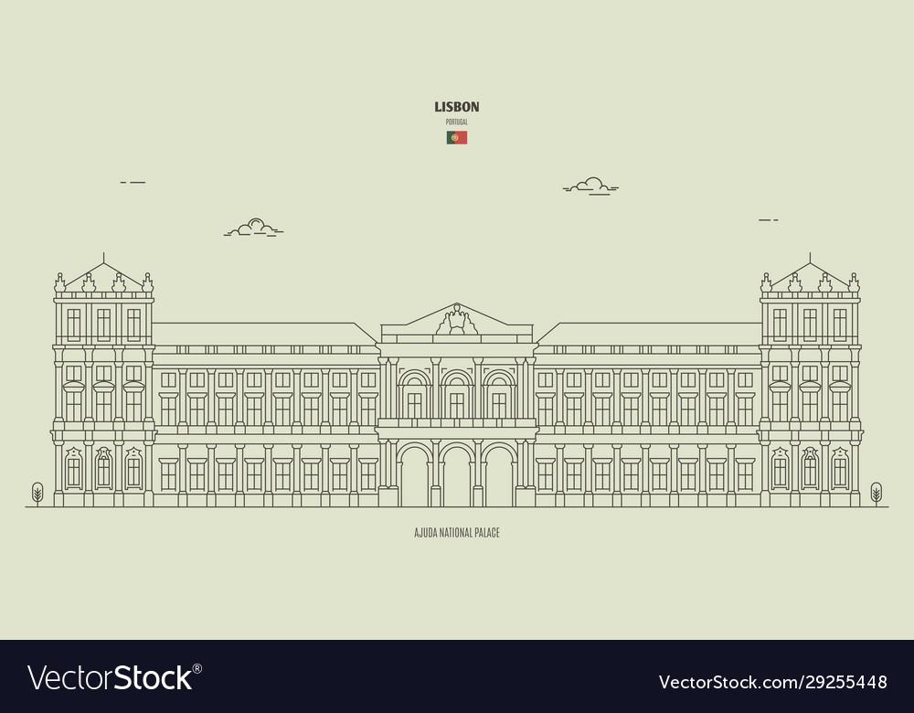 Ajuda national palace in lisbon portugal