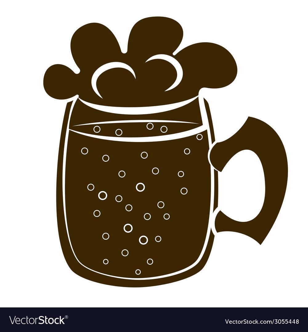 Beer mug silhouette