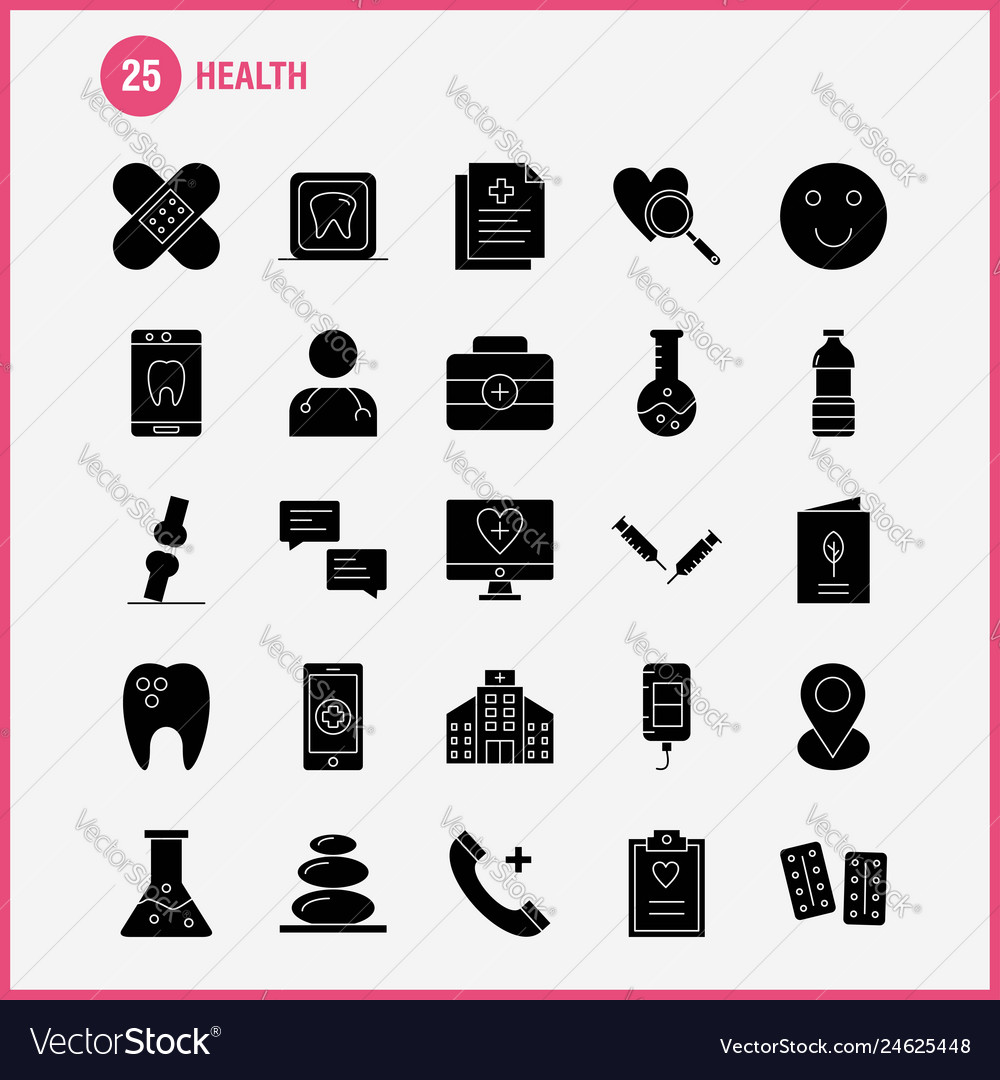 Health solid glyph icon for web print and mobile