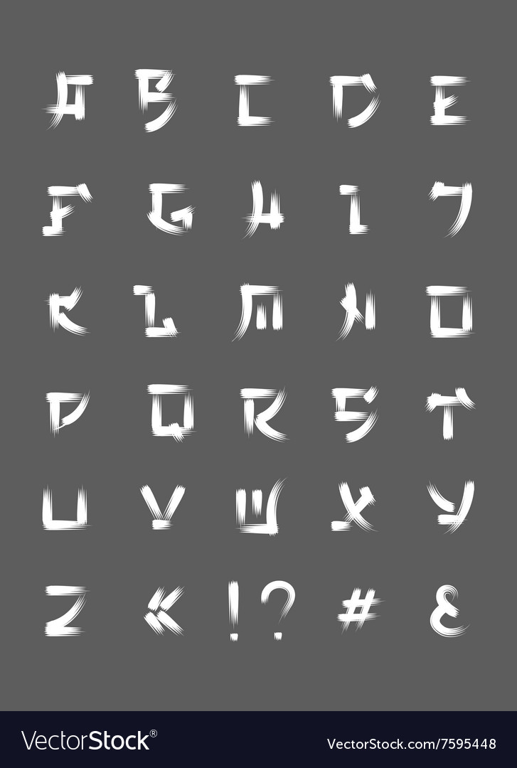 Japanese brush font font letters in japan