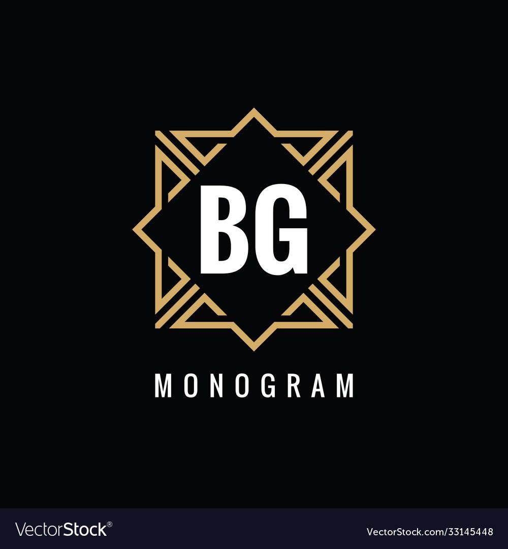 Monogram bg initial letters - concept logo