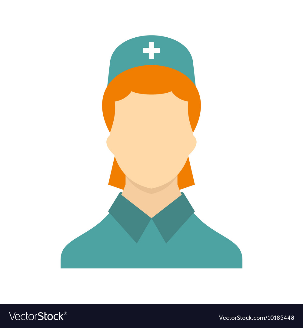 Nurse icon in flat style vector image