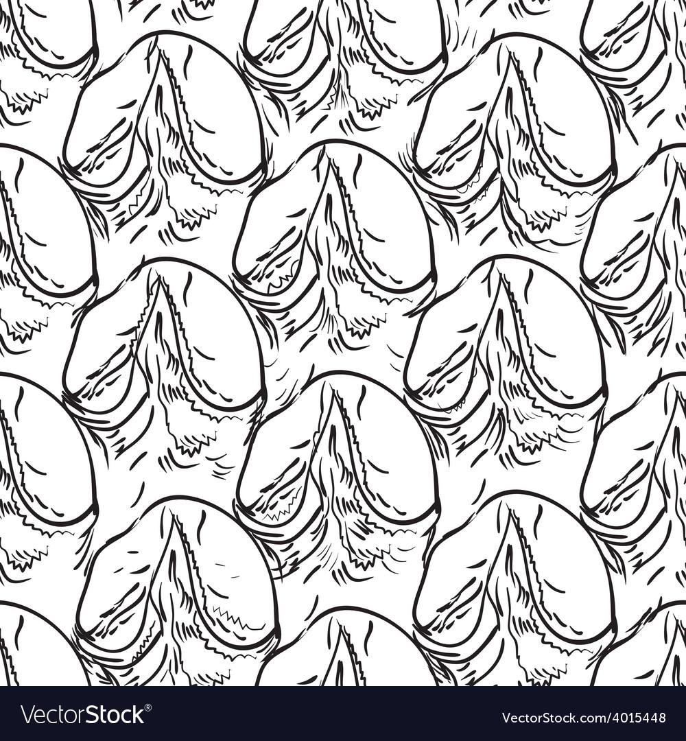 Pineapple peel seamless background Sketch Black