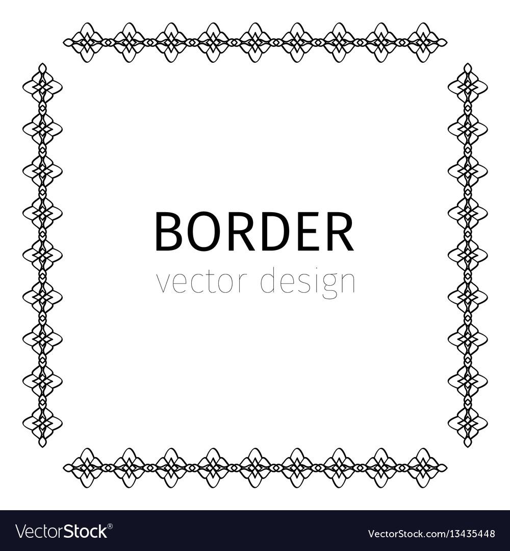 Simple square black border vector image