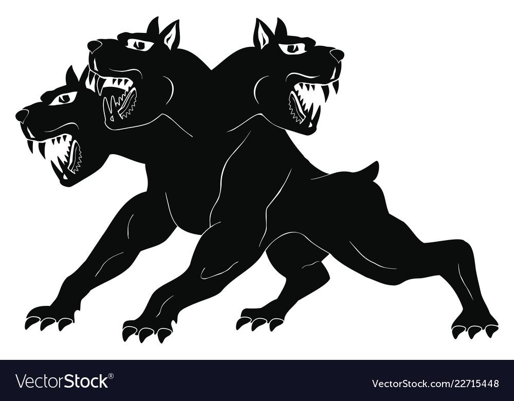 Cute Three Headed Dog Drawing