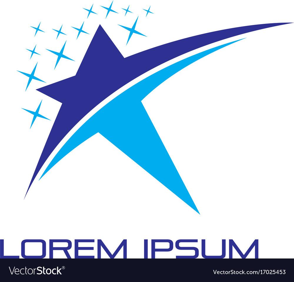 Abstract star success logo