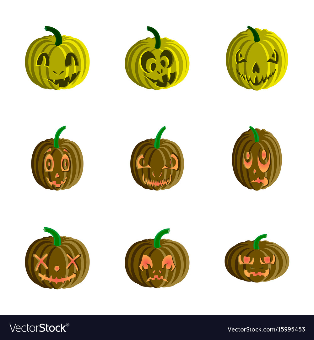Assembly flat halloween pumpkin