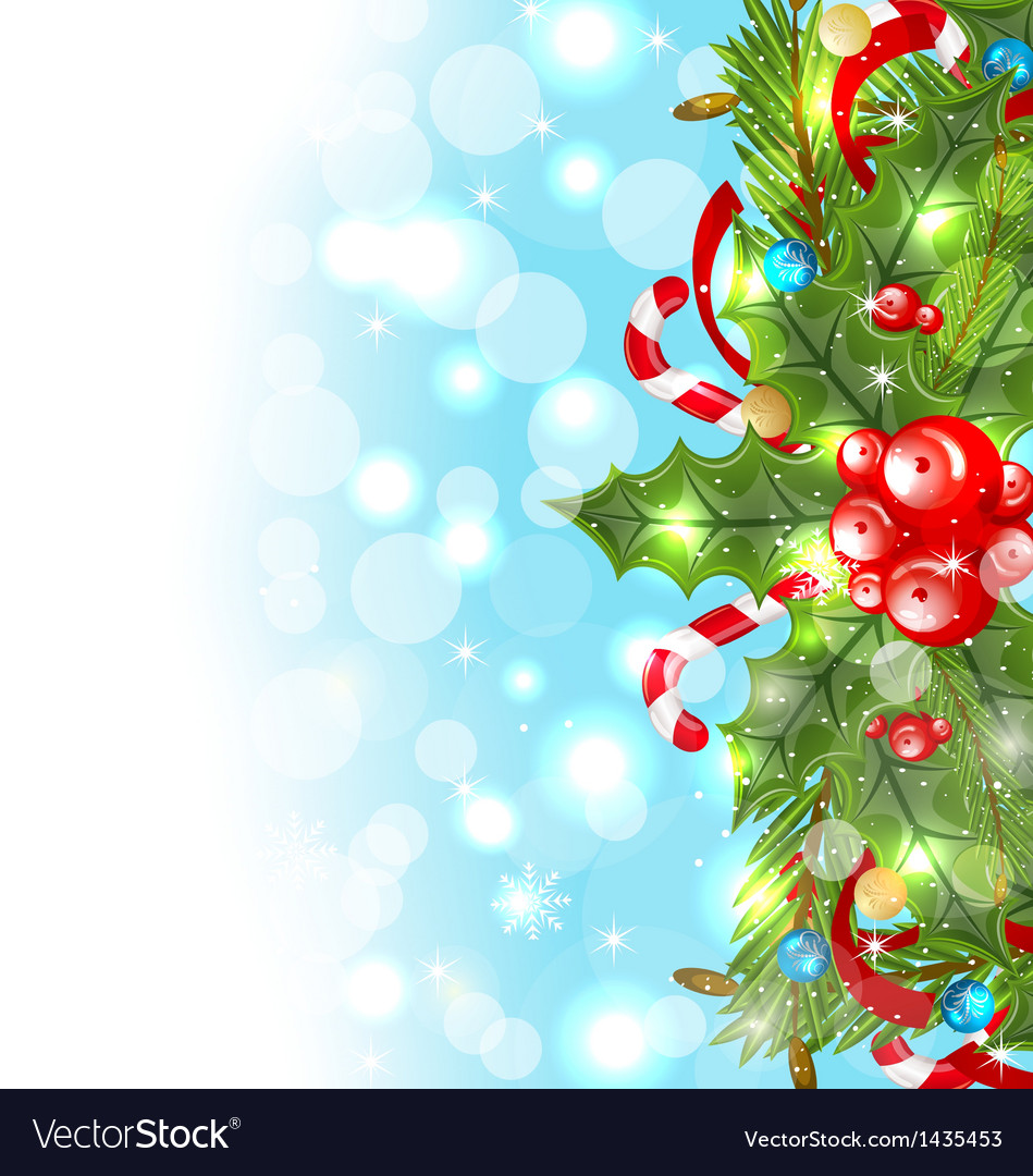 Christmas glowing background holiday decoration