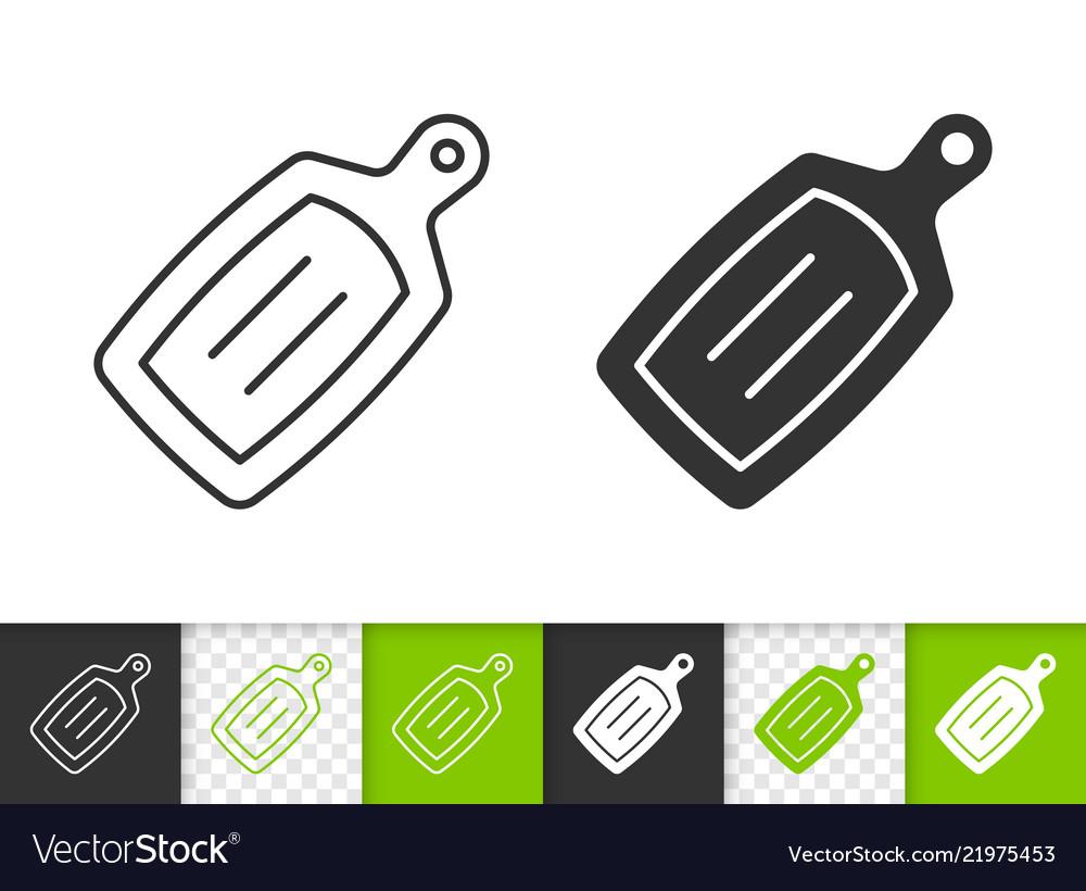 Cutting board simple black line icon