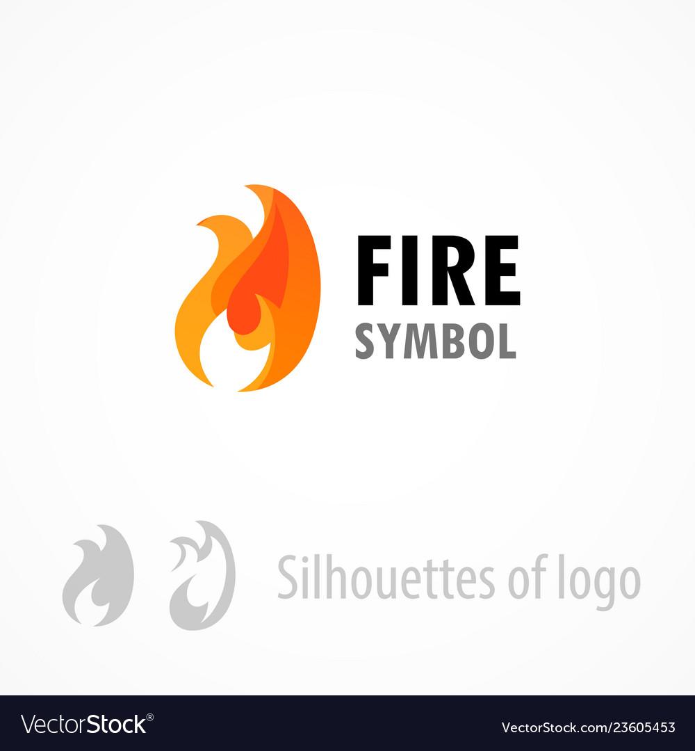 Fire symbol logo emblem isolated on white - style