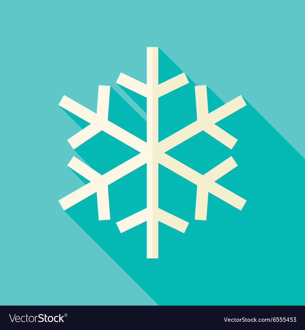 Flat Design Christmas Winter Snowflake Icon