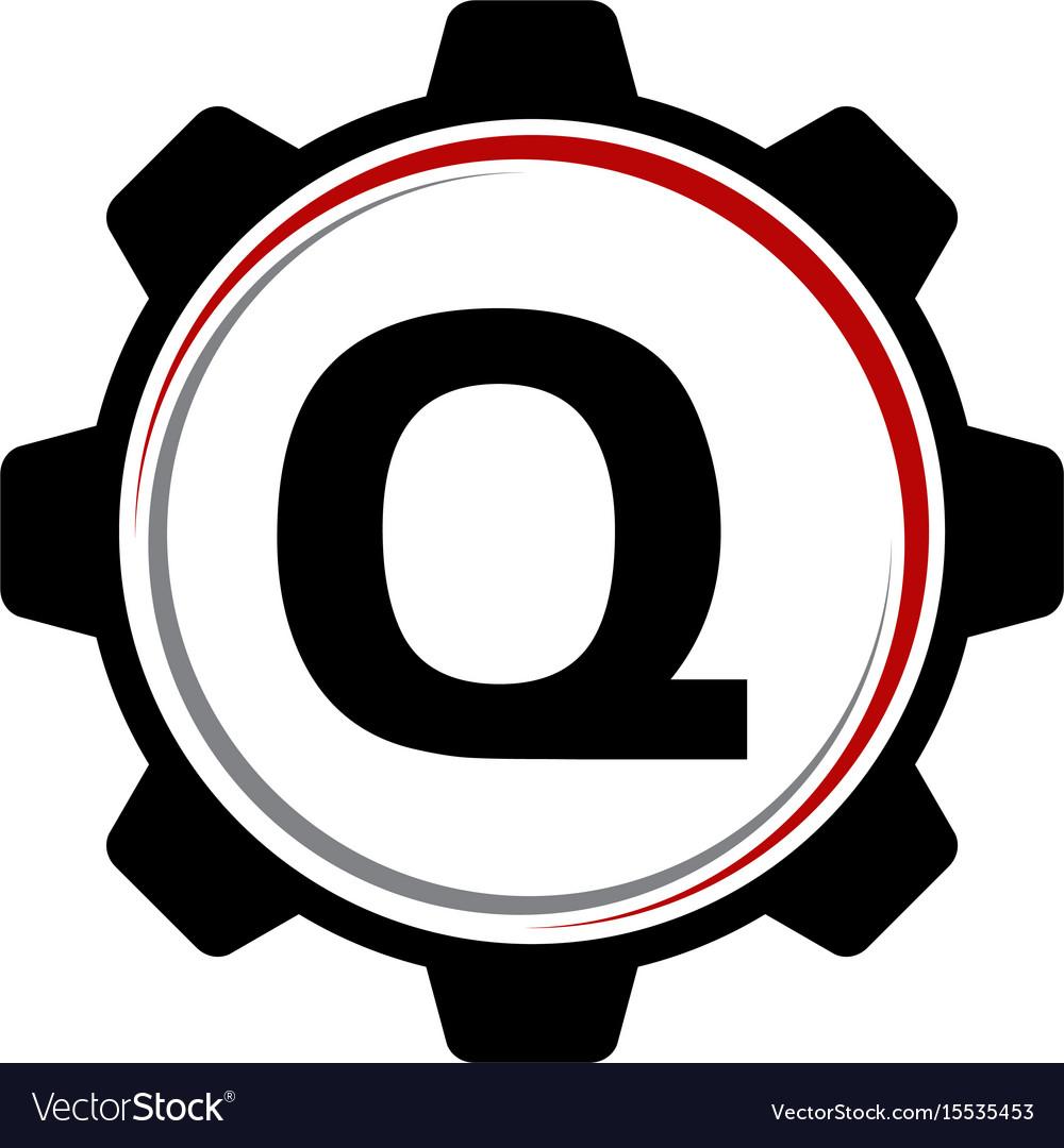 Gear solution logo letter q