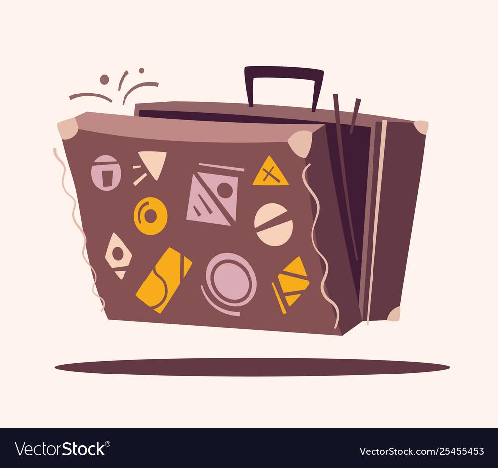 Luggage for travel cartoon