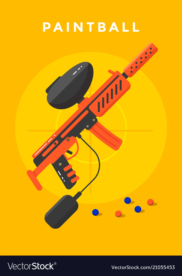 Paintball sport poster