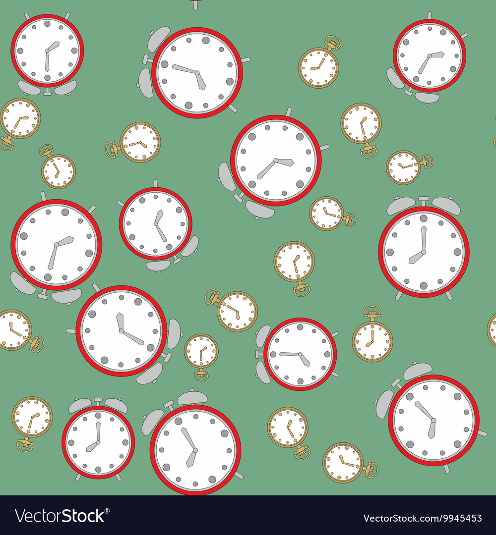 Seamless pattern with watches 566 vector image