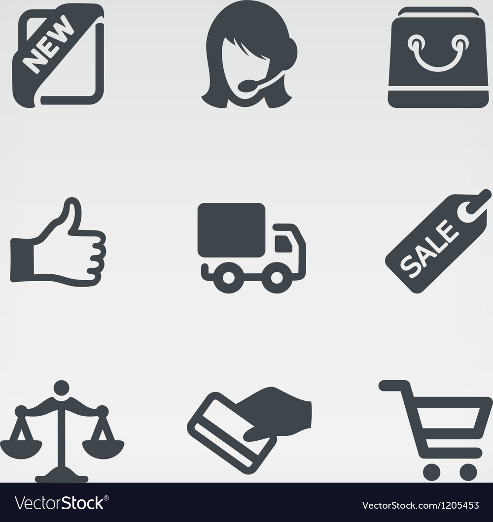 Shopping 1 icon set