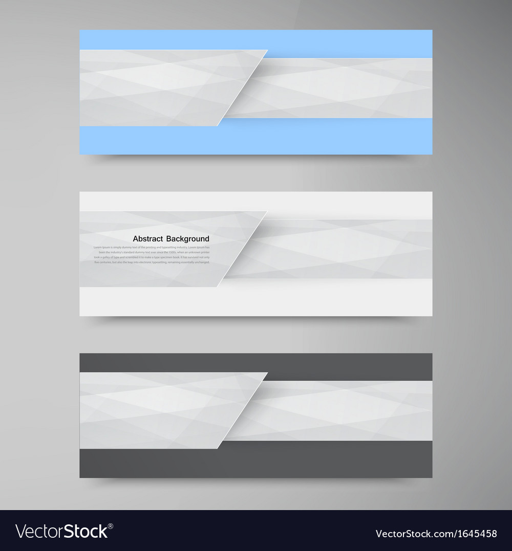 Banner background White line paper origami