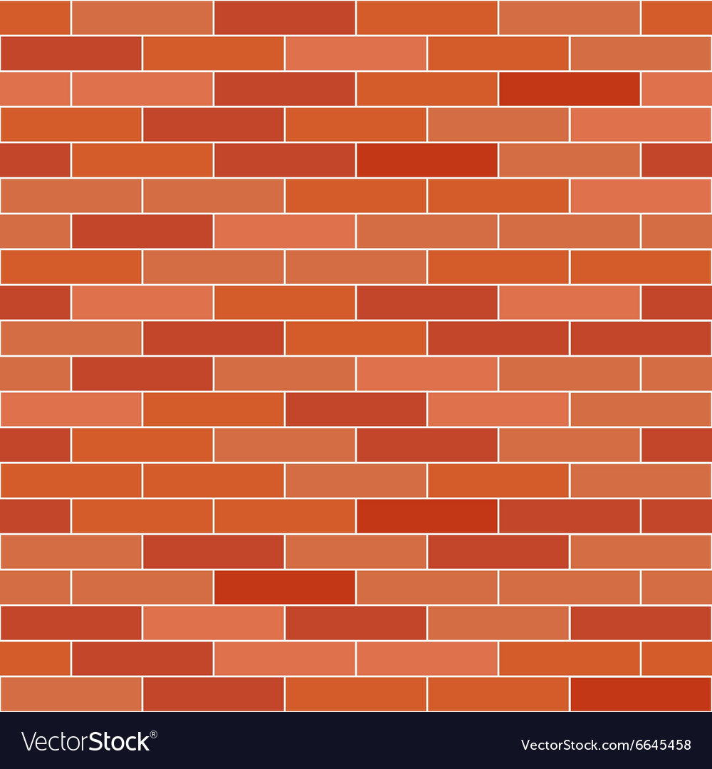 Brick wall background seamless pattern vector image