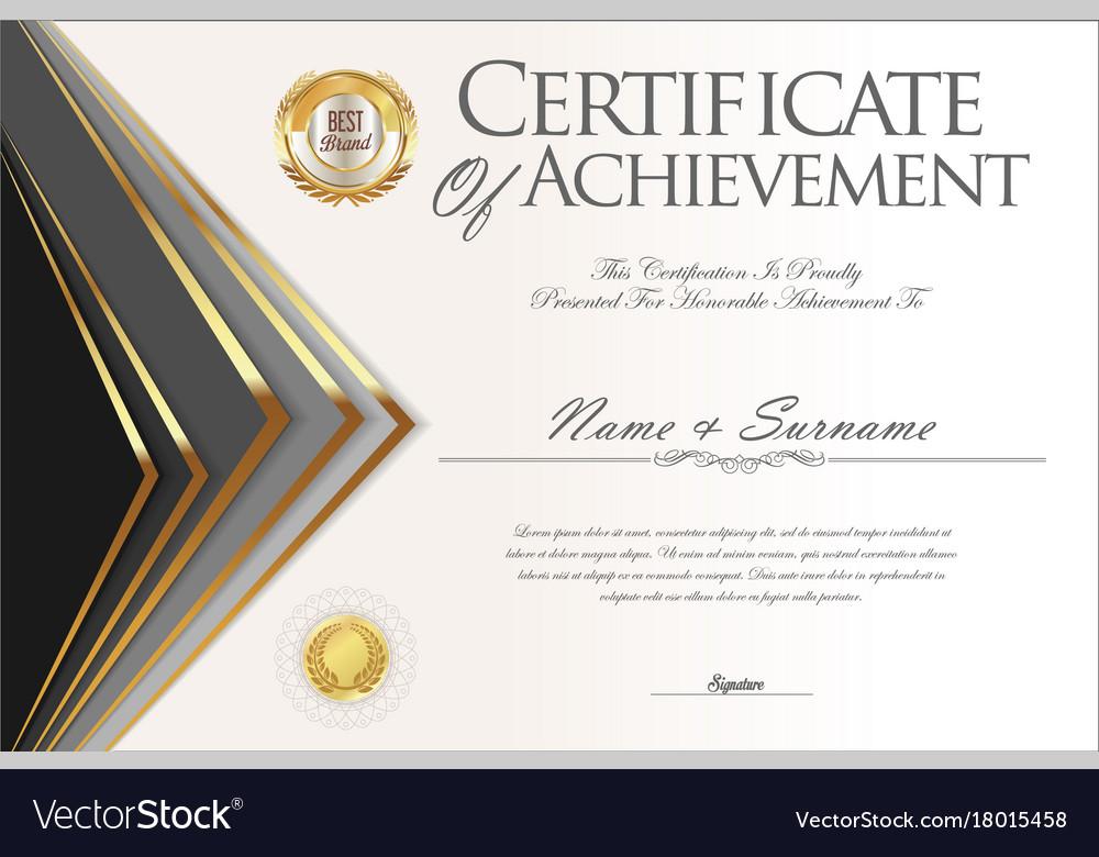 Certificate or diploma design template 4