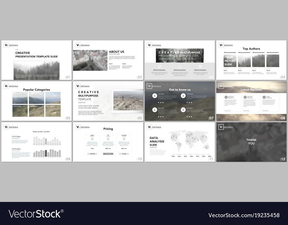 clean minimal presentation templates royalty free vector, Minimal Presentation Template, Presentation templates