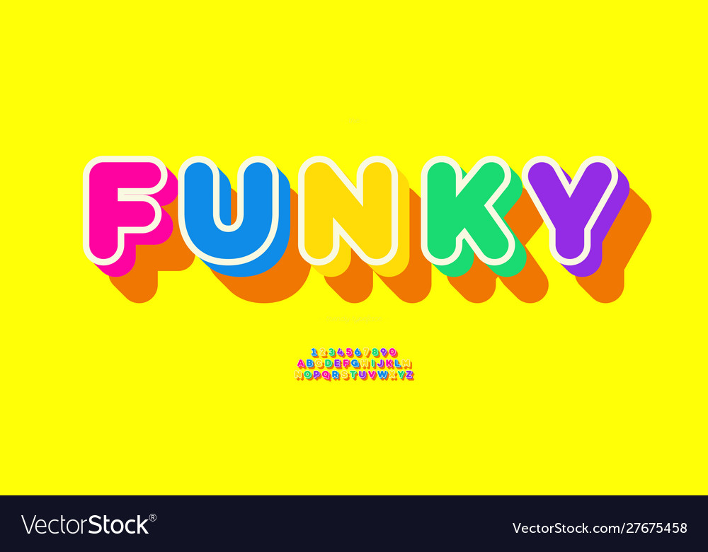Funky font 3d bold style