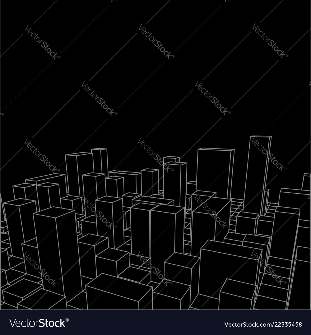Night skyline city abstract town industrial