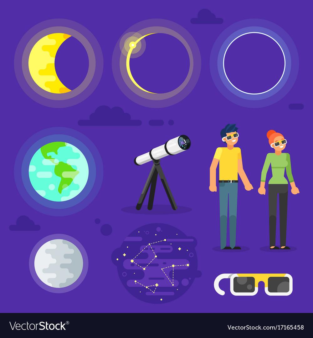 Set of solar eclipse elements