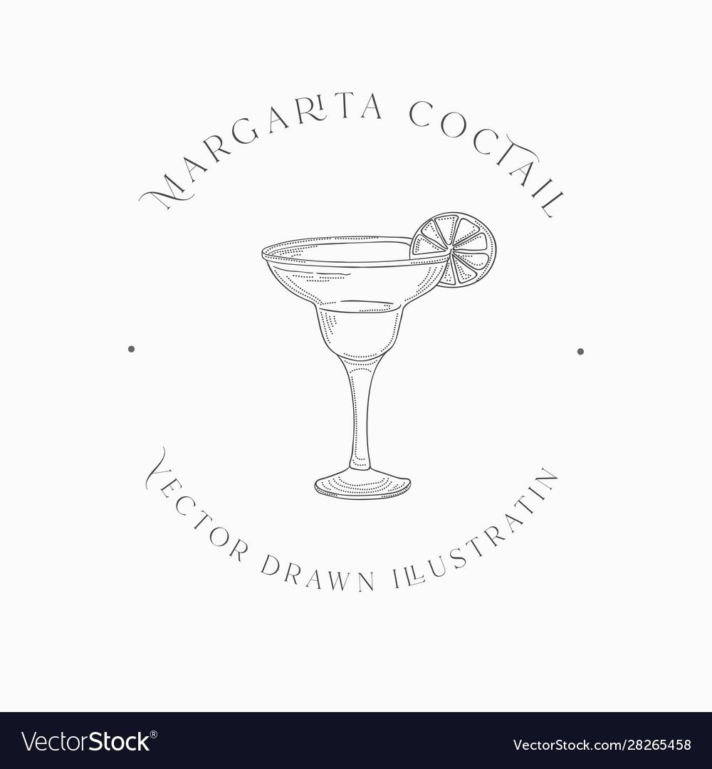 Sketch margarita cocktail drawn