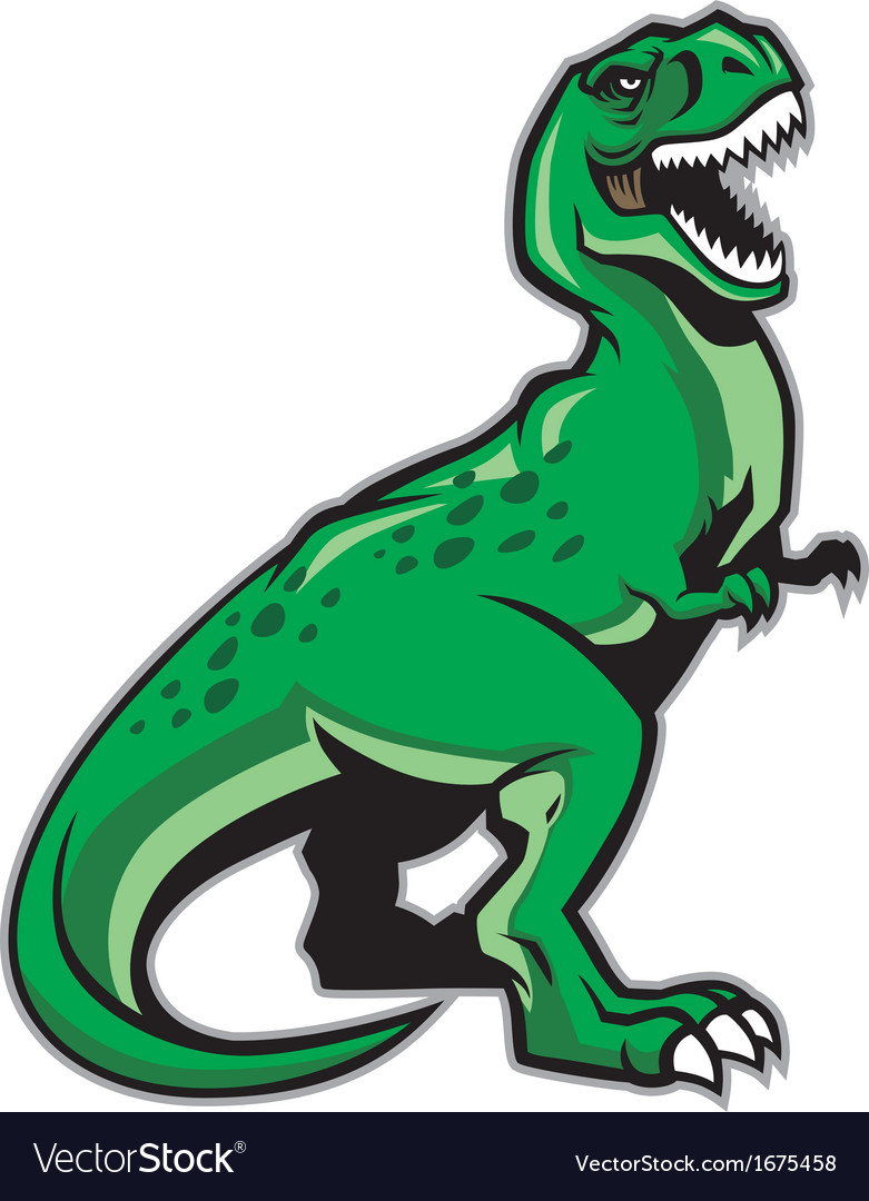 trex dinosaur royalty free vector image vectorstock rh vectorstock com t rex vector logo t rex vector free
