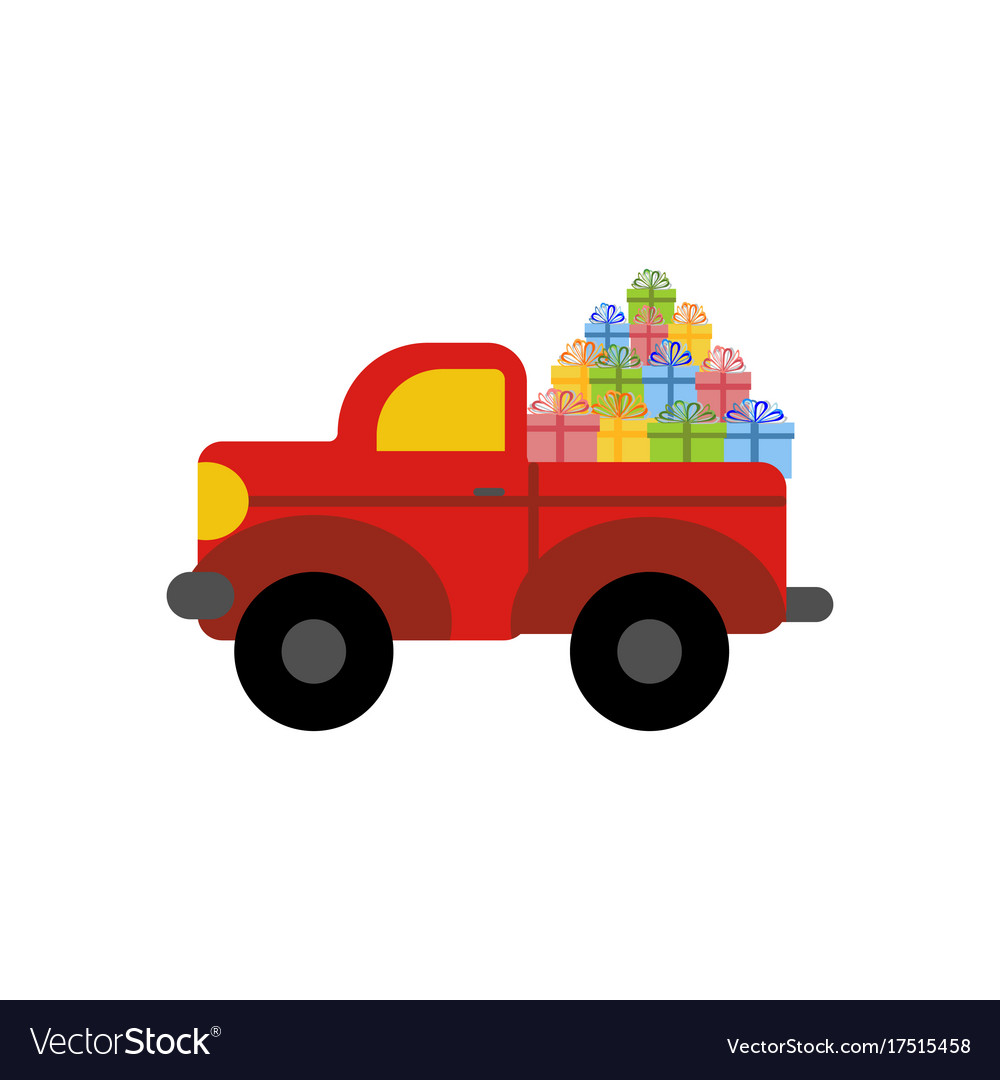 Truck with presents