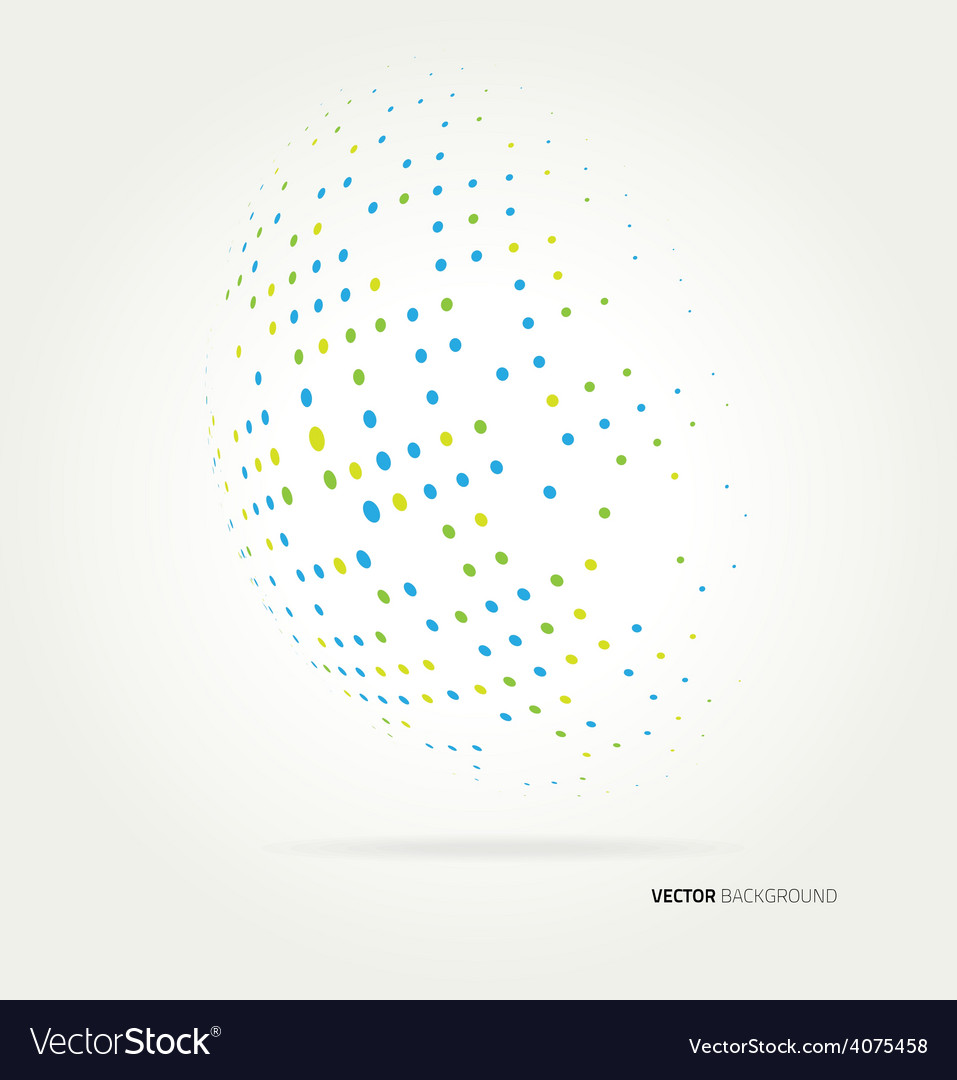 World halftone on white background vector image