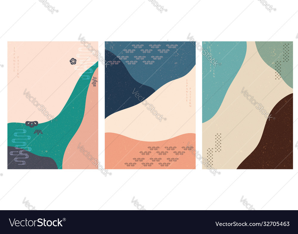 Abstract modern background with japanese icon