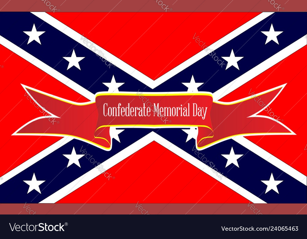 Confederate memorial day banne...