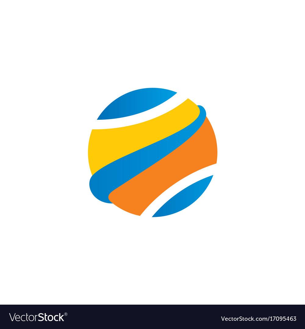Globe abstract ball color logo