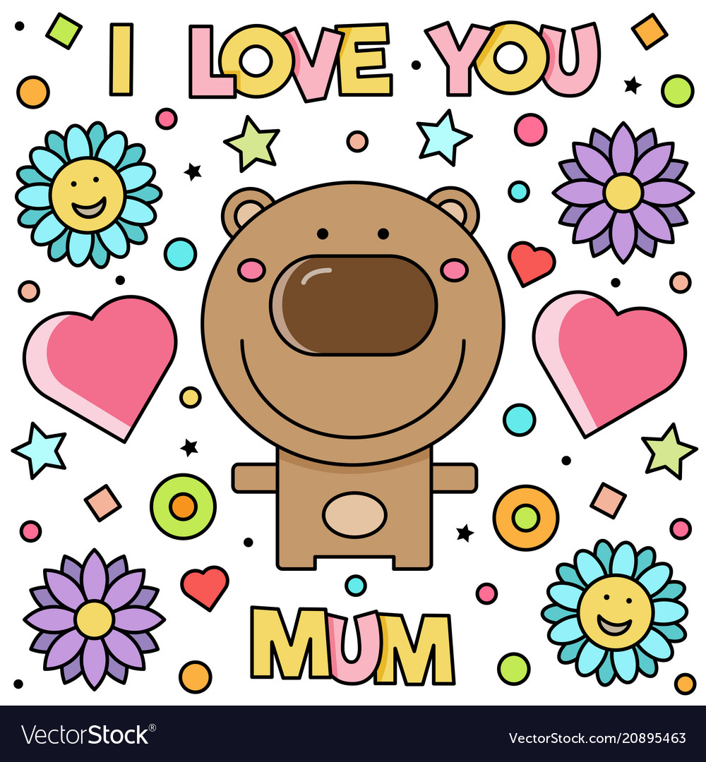 I love you mum vector image