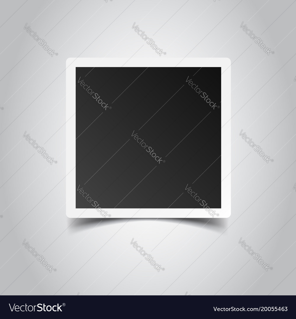 Photo frame on gray background for your vector image