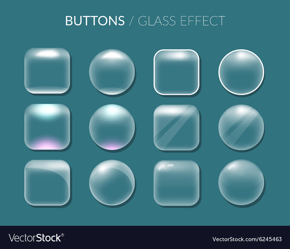 Round and square buttons