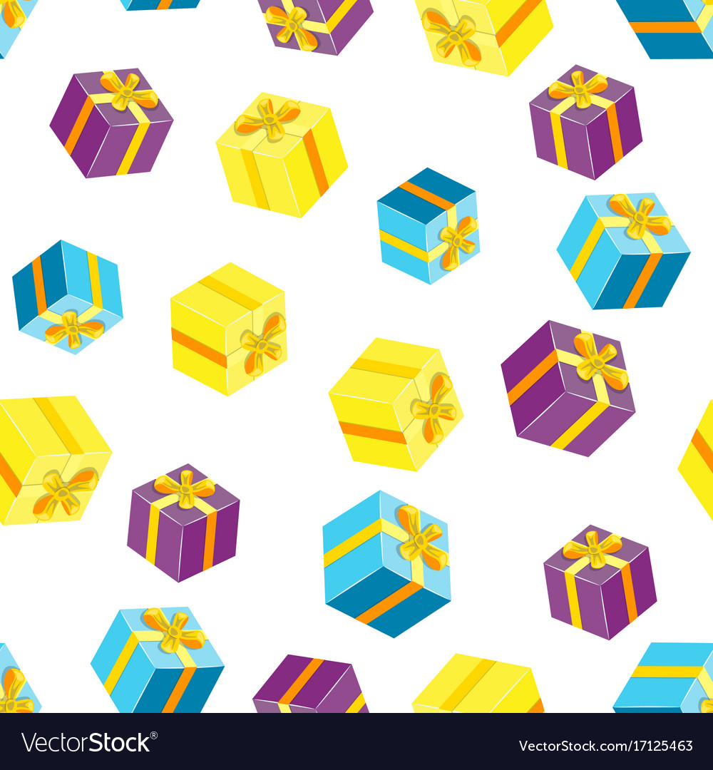 Seamless pattern with packages gifts