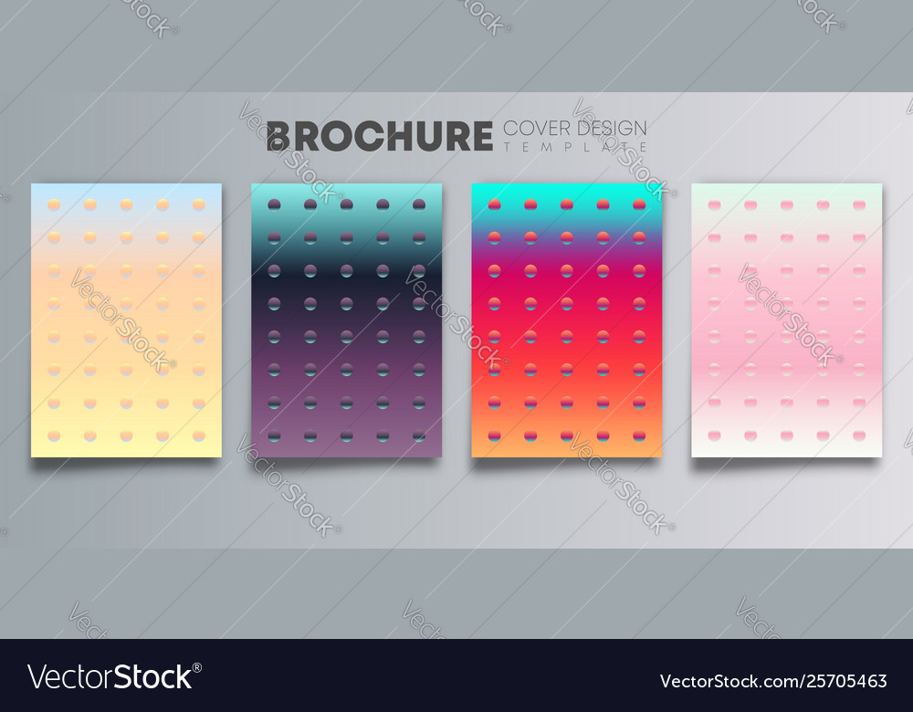 Set colorful gradient cover with color dots